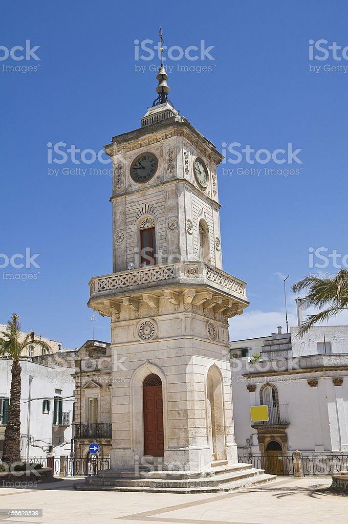 Clocktower. Ceglie Messapica. Puglia. Italy. stock photo