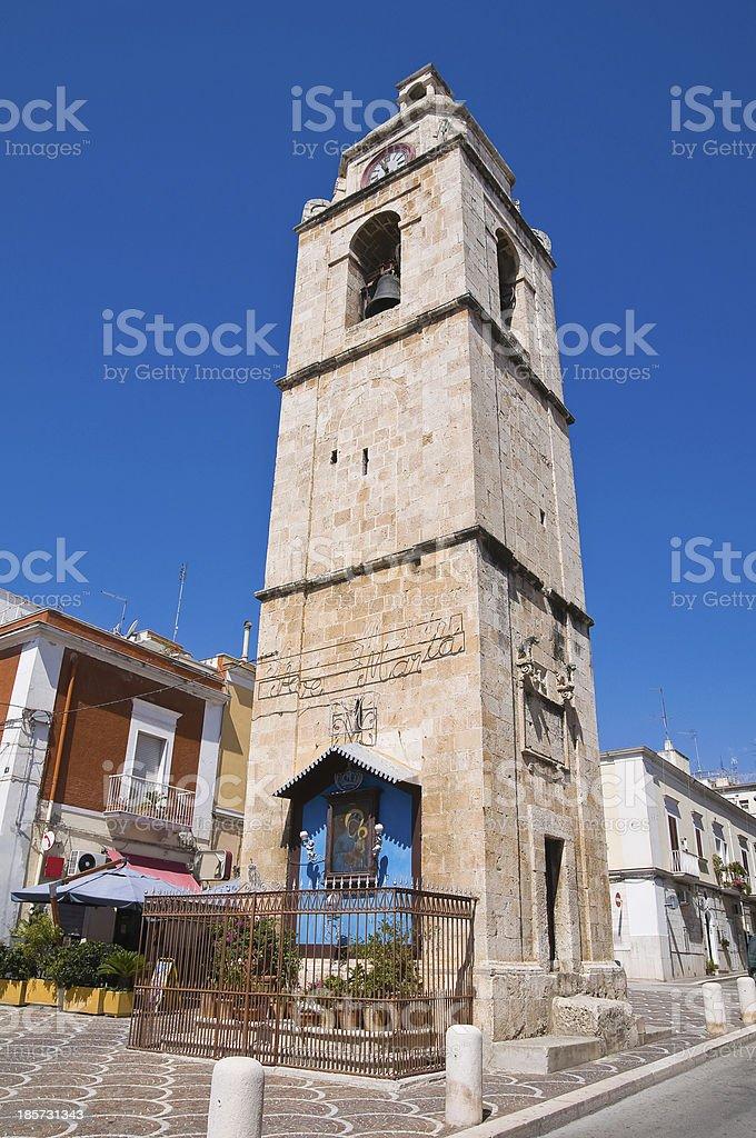 Clocktower. Manfredonia. Puglia. Italy. royalty-free stock photo