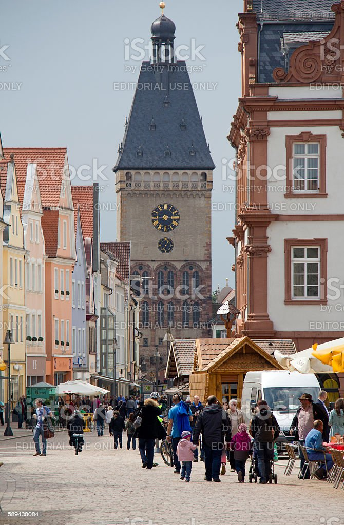 Clocktower of Speyer, Germany stock photo