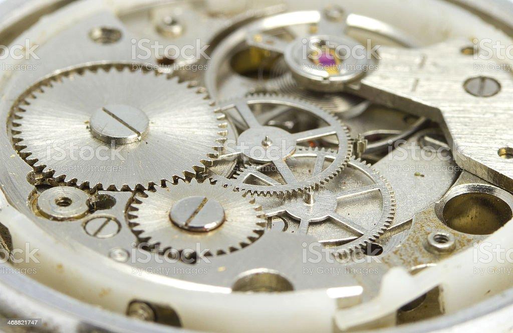 Clockwork close up stock photo
