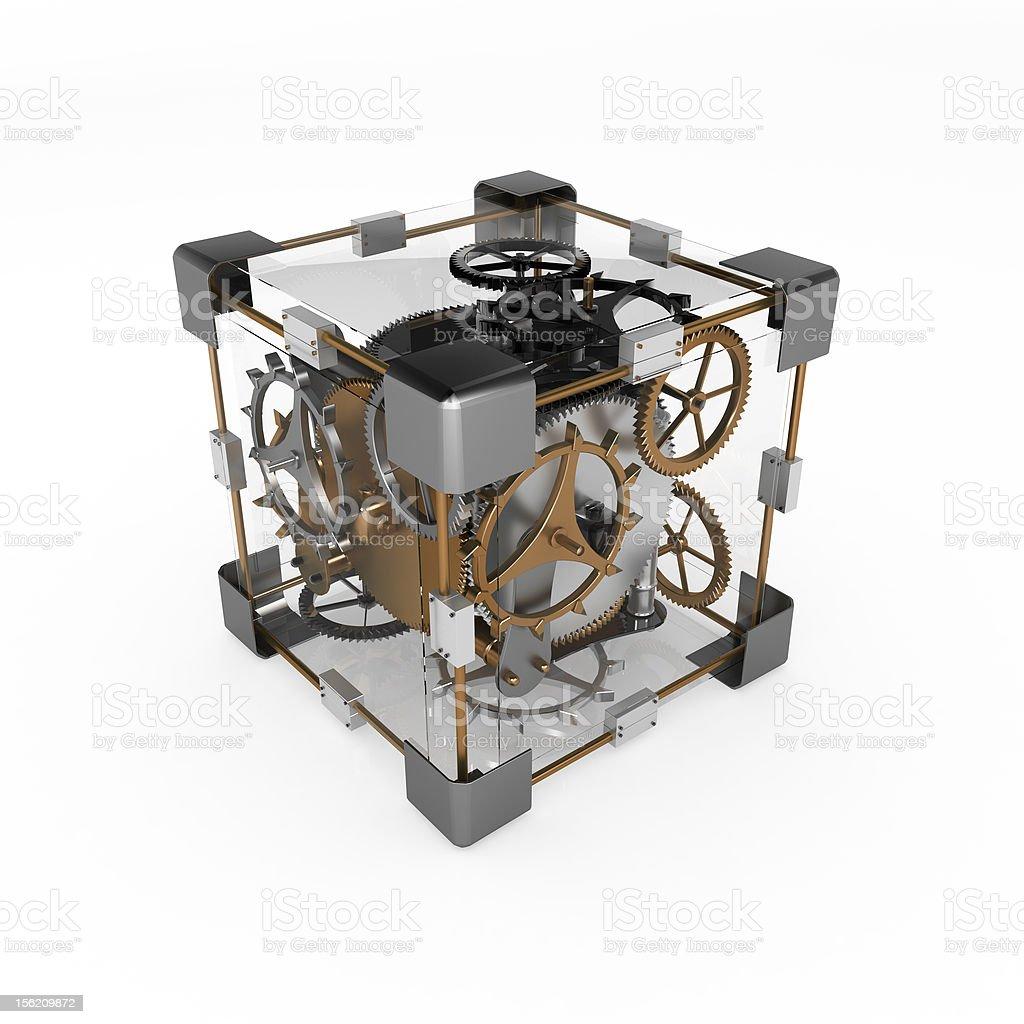 Clockwork Cube royalty-free stock photo