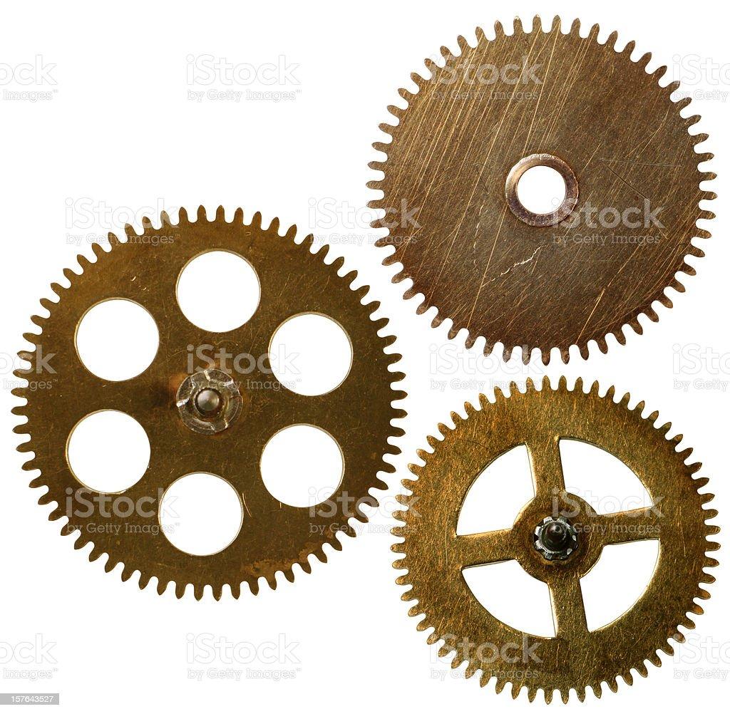Clockwork gears macro stock photo