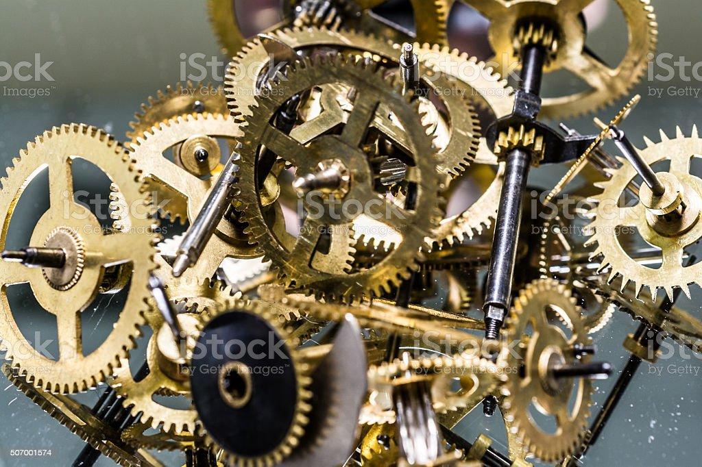 Clockwork mechanism stock photo