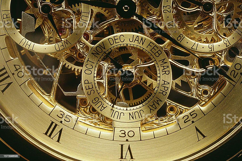 Clockwork orange gold stock photo