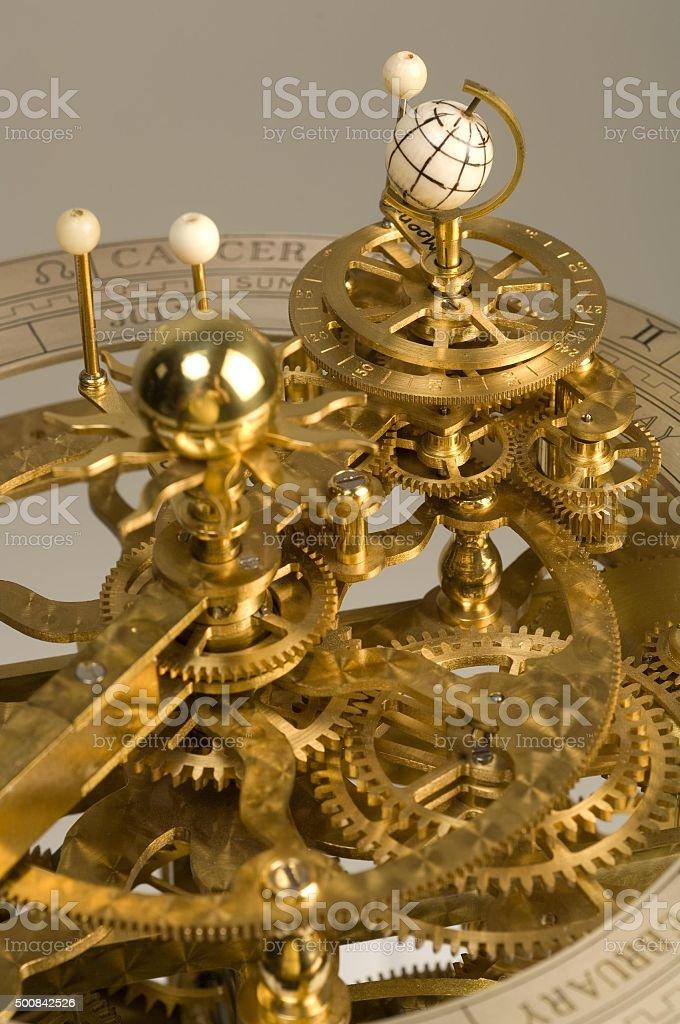 Clockwork Orrery stock photo