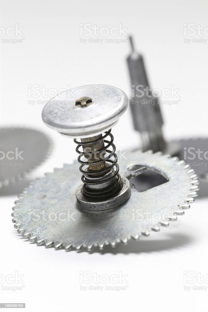 Clockwork Parts stock photo