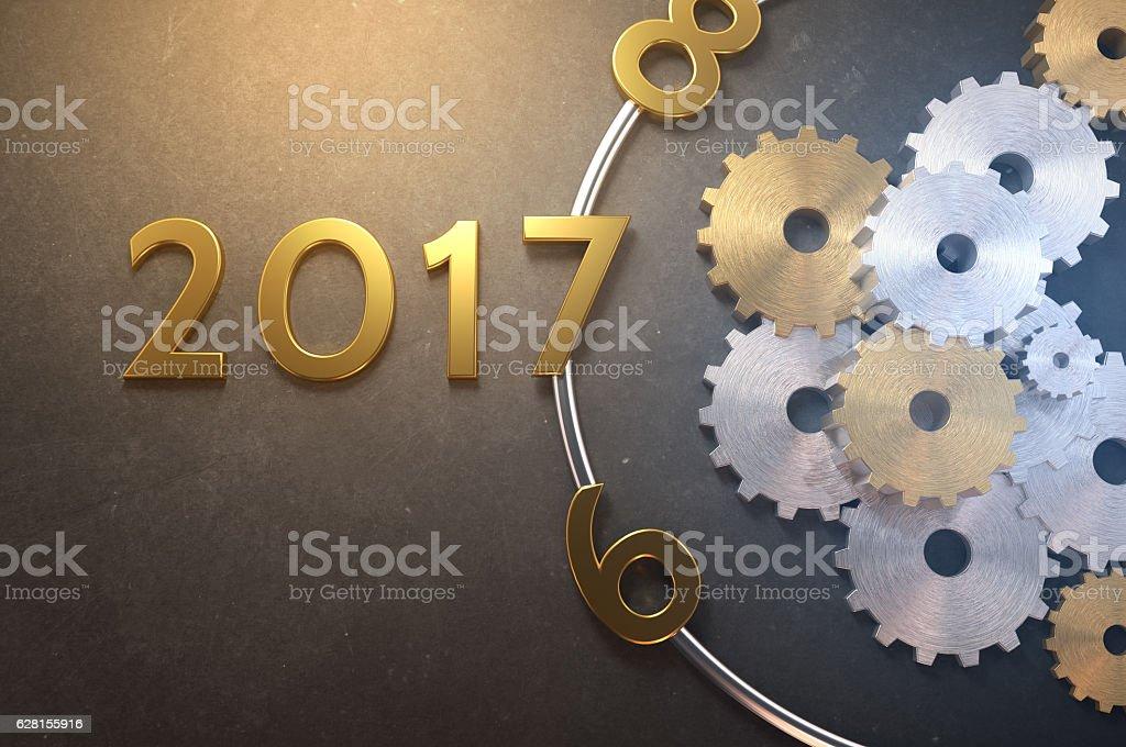 2017 Clockwork Steampunk stock photo