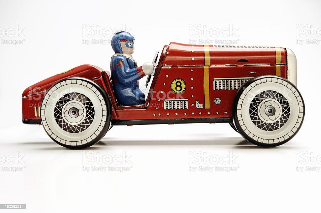 clockwork vintage toy racecar stock photo
