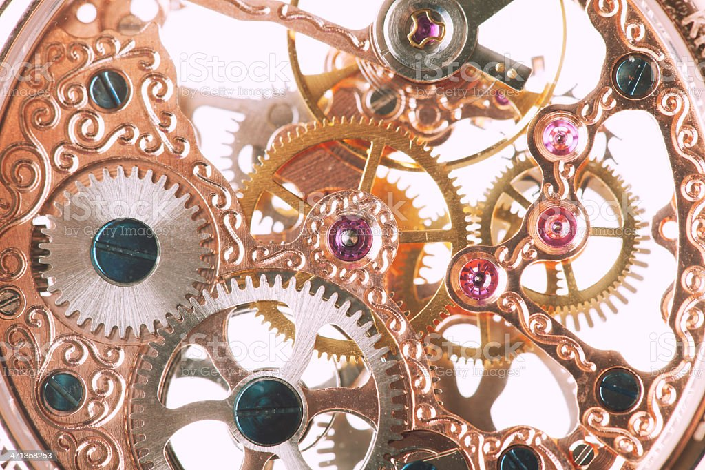 Clockworks royalty-free stock photo