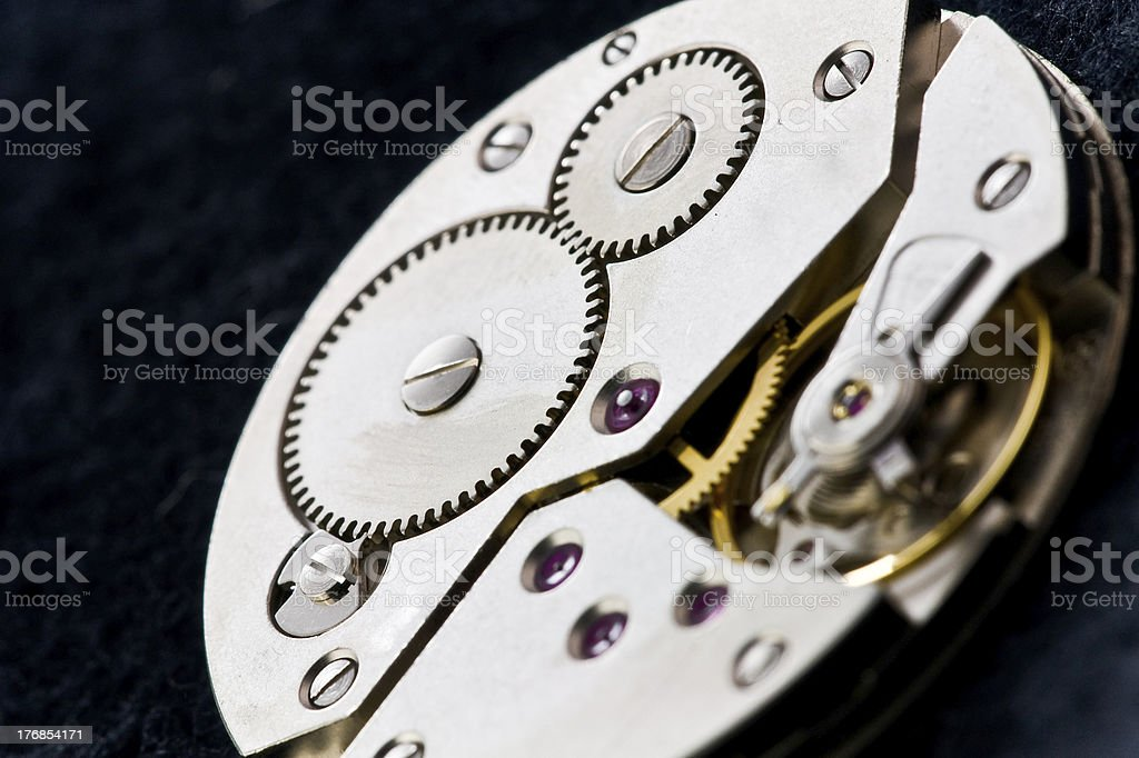 clockworks with gears royalty-free stock photo