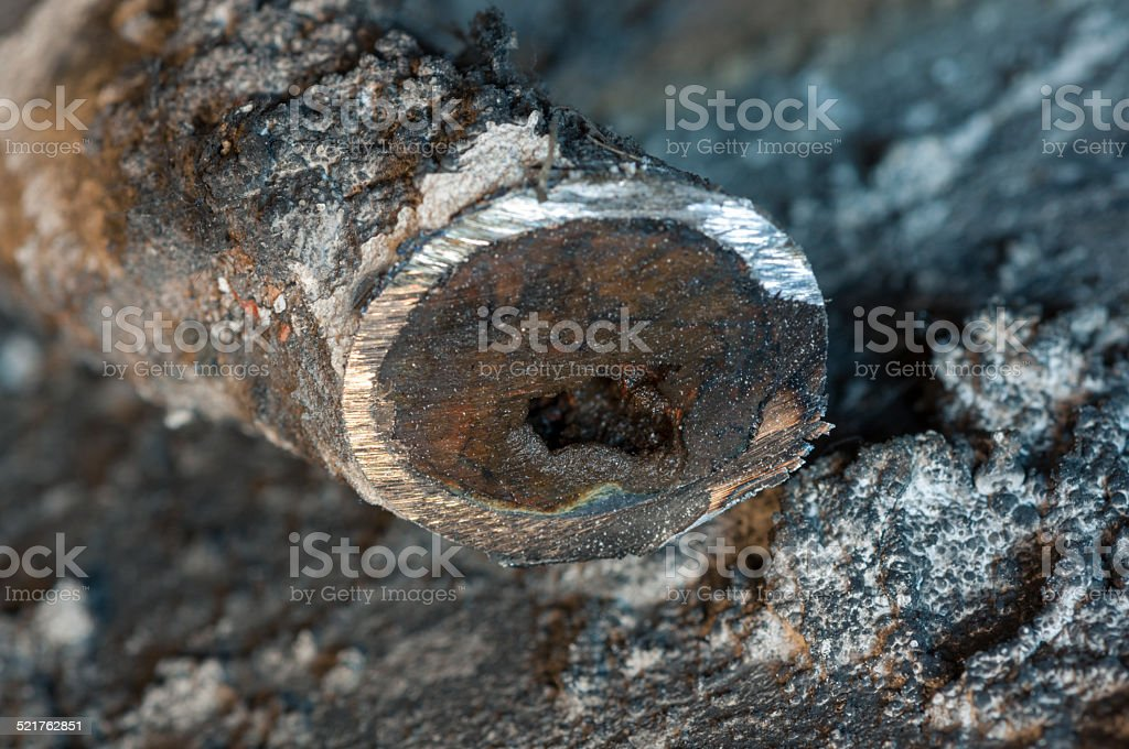 Clogged pipe stock photo