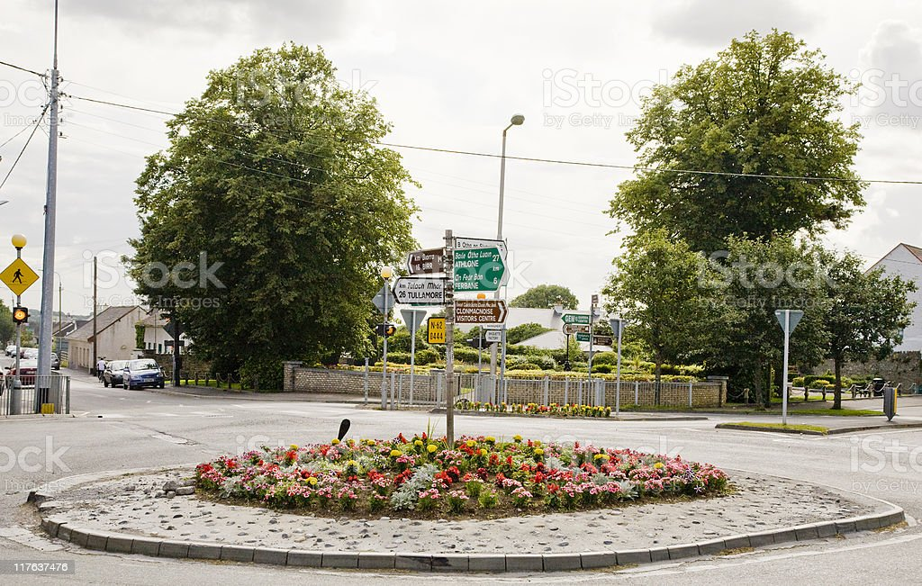 Cloghan Roundabout stock photo