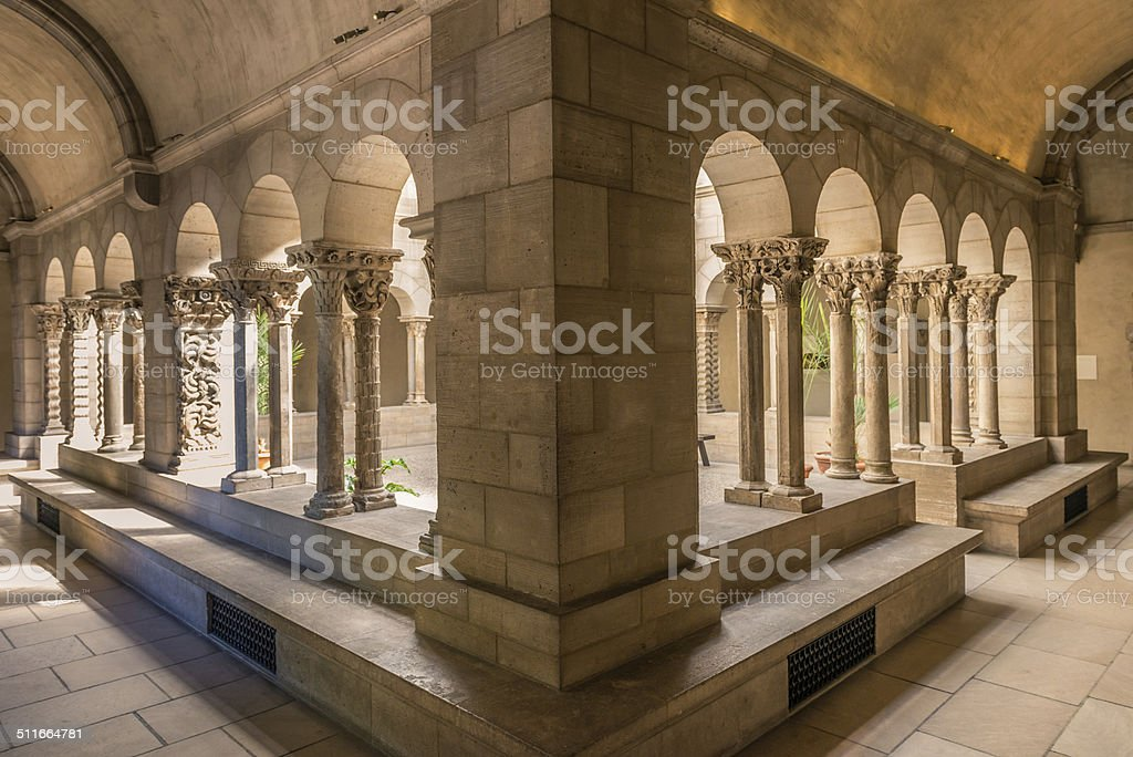 Cloister arch stock photo