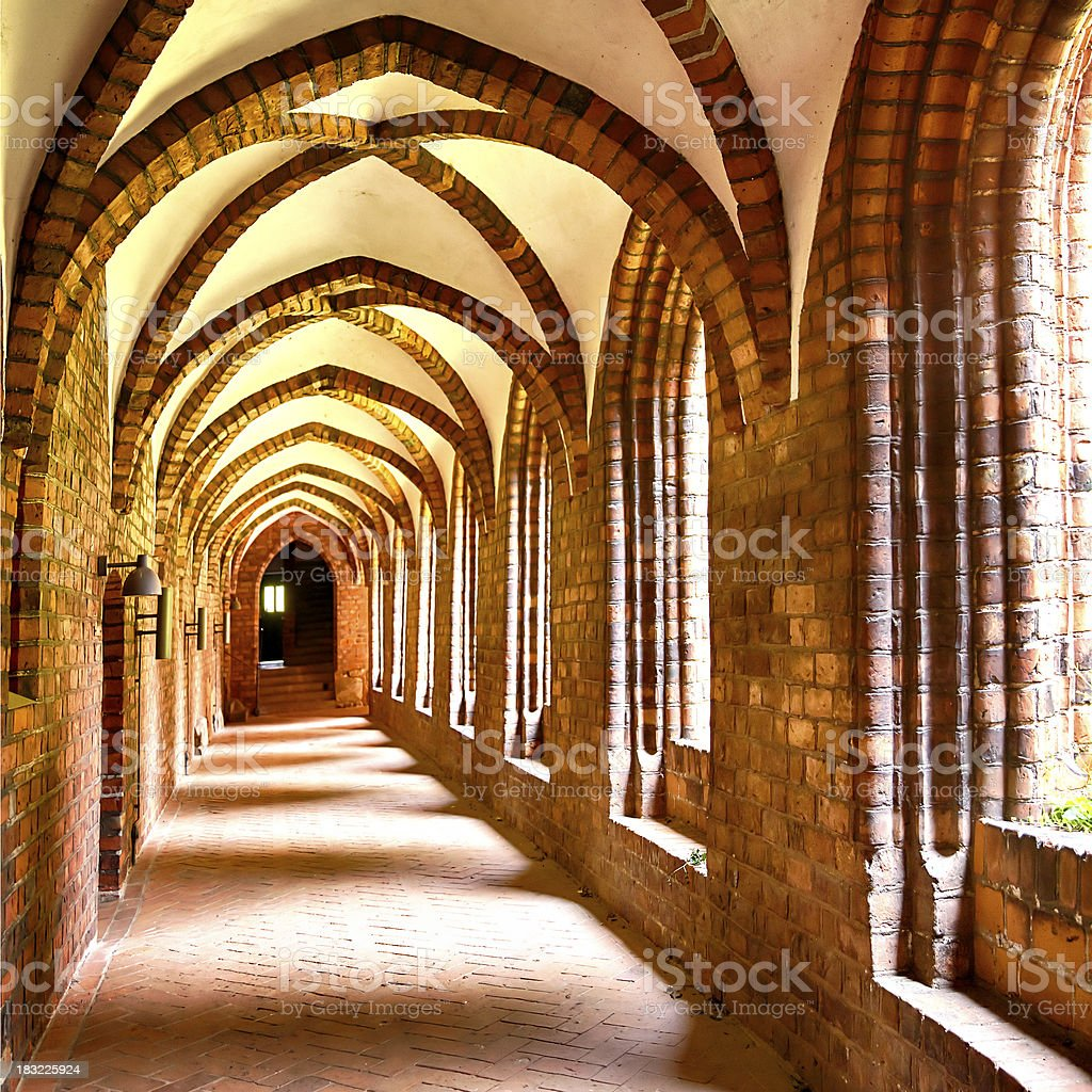 Cloister arches stock photo