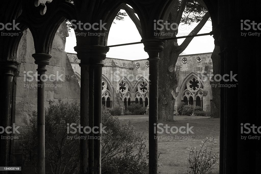 Cloister at Salisbury royalty-free stock photo