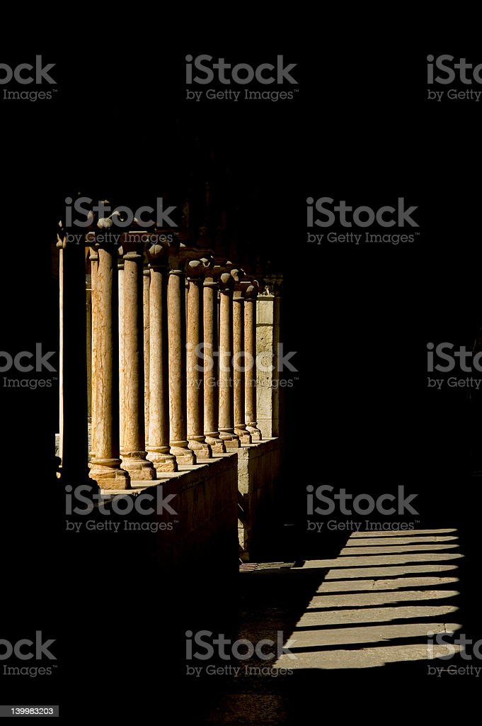 Cloister columnate royalty-free stock photo