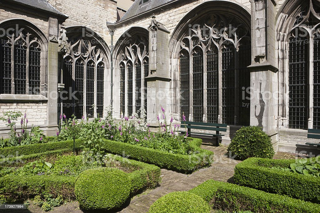 Cloister Herb Garden royalty-free stock photo