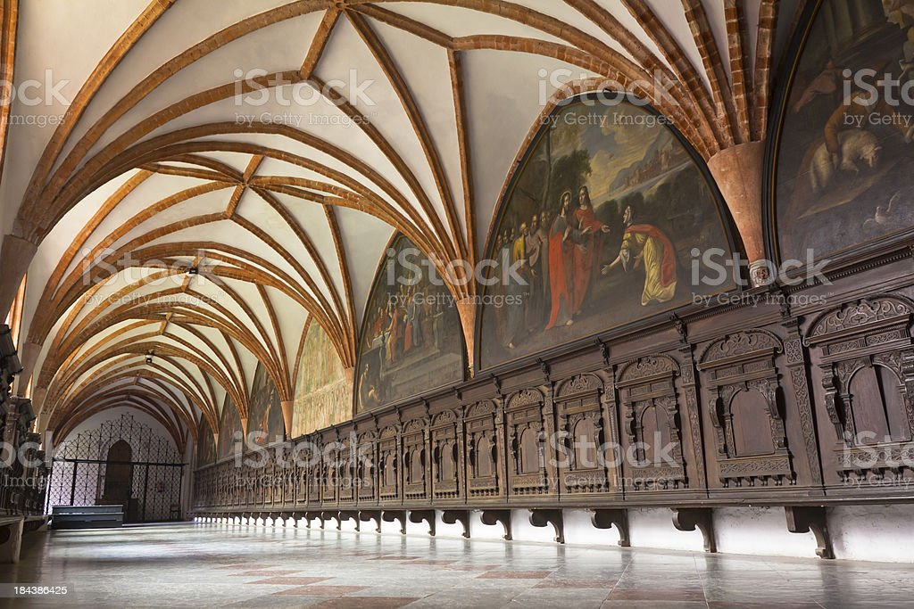 Cloister in Former Cistercian Monastery royalty-free stock photo