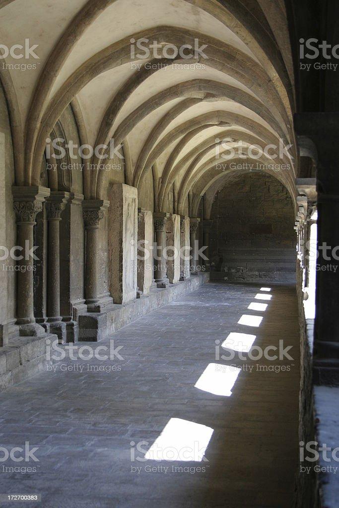 Cloister in Naumburg stock photo
