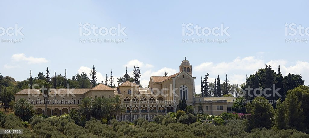 Cloister. Latrun, Israel. Trappist order. royalty-free stock photo