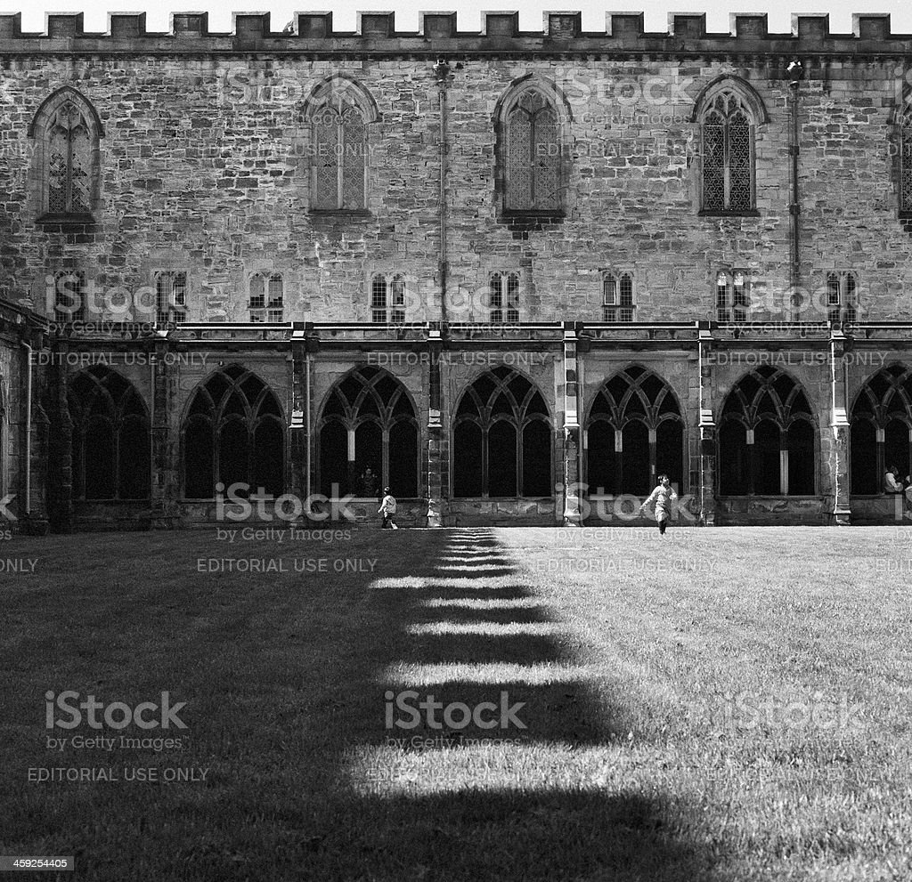 Cloister of Durham Cathedral royalty-free stock photo