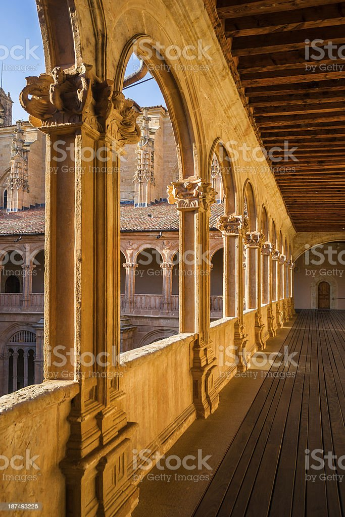 Cloister of Kings in Convento de San Esteban, Salamanca stock photo