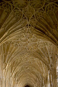 Cloistered corridor with fan vaulting