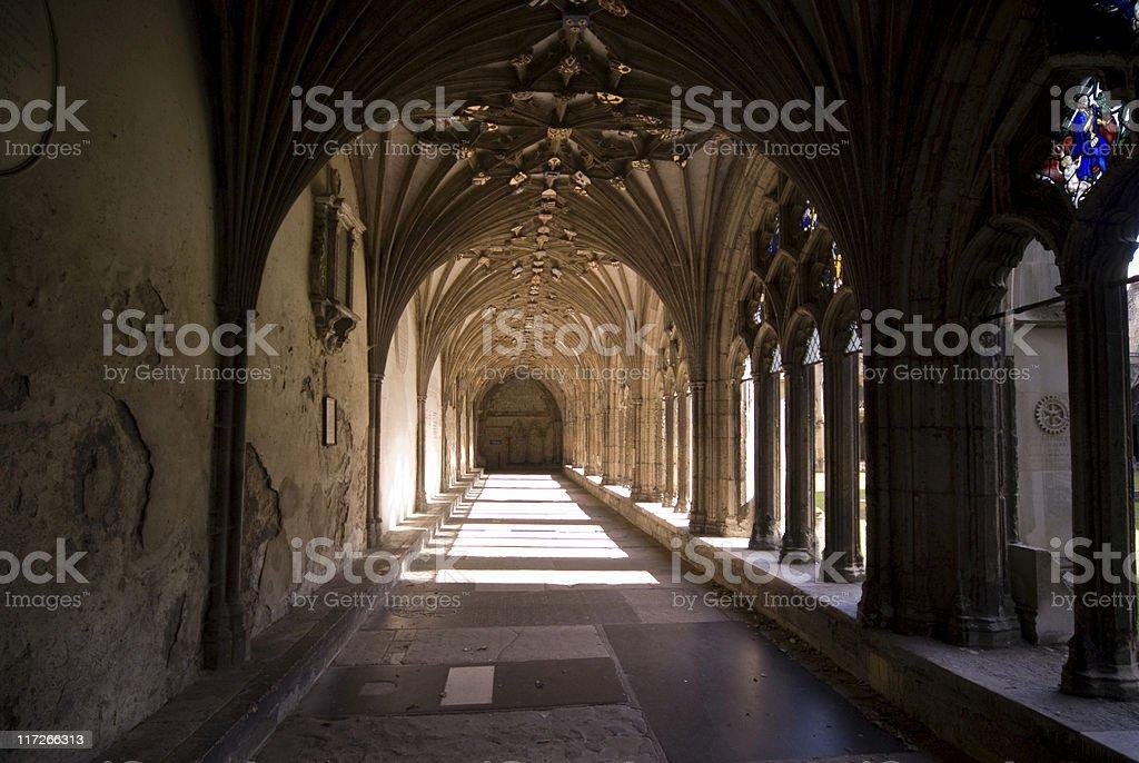 Cloisters at Canterbury stock photo