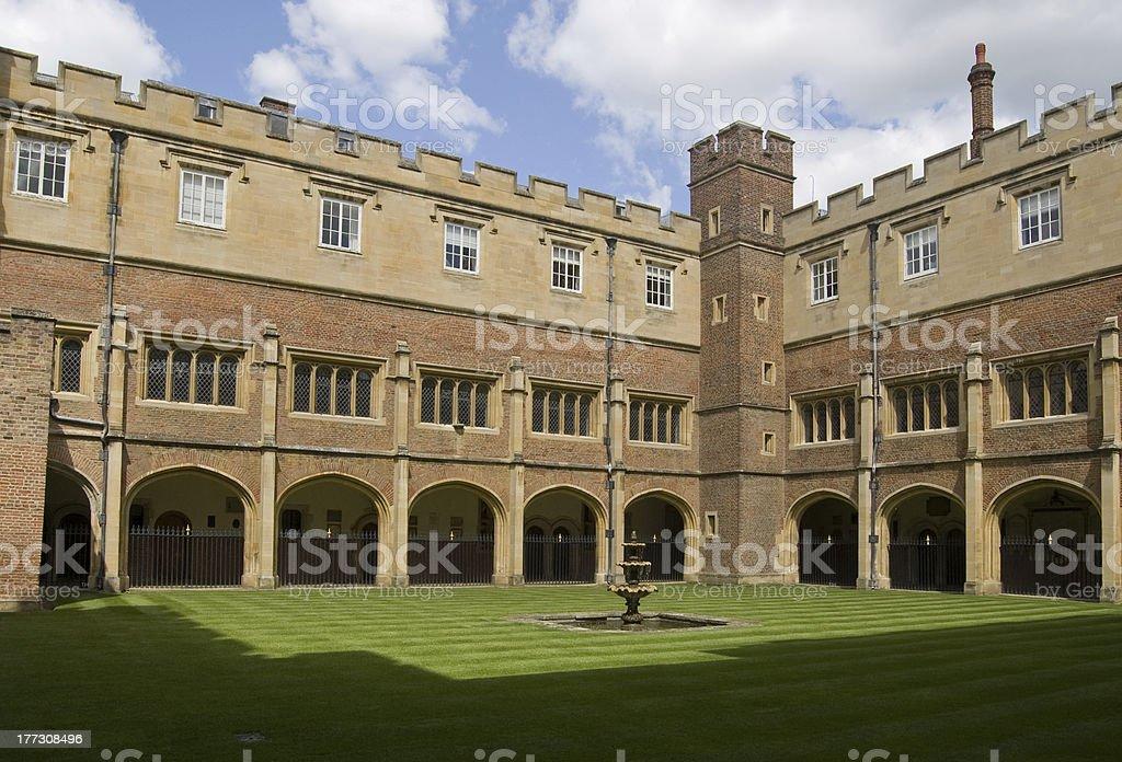 Cloisters at Eton College, Berkshire stock photo