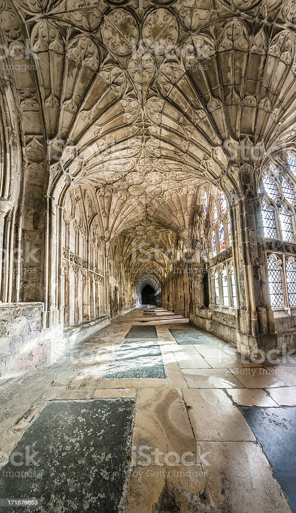 Cloisters In A Cathedral stock photo
