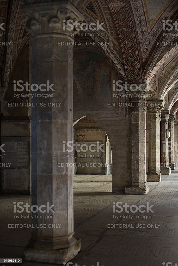 Cloisters of Santa Maria Novella stock photo
