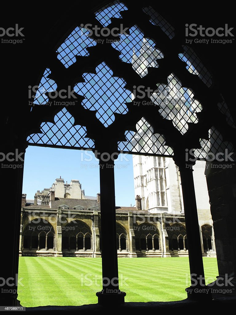 Cloisters Of Westminster Abbey royalty-free stock photo