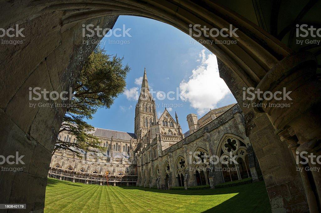 'Cloisters, Salisbury Cathedral, Wiltshire, UK' stock photo
