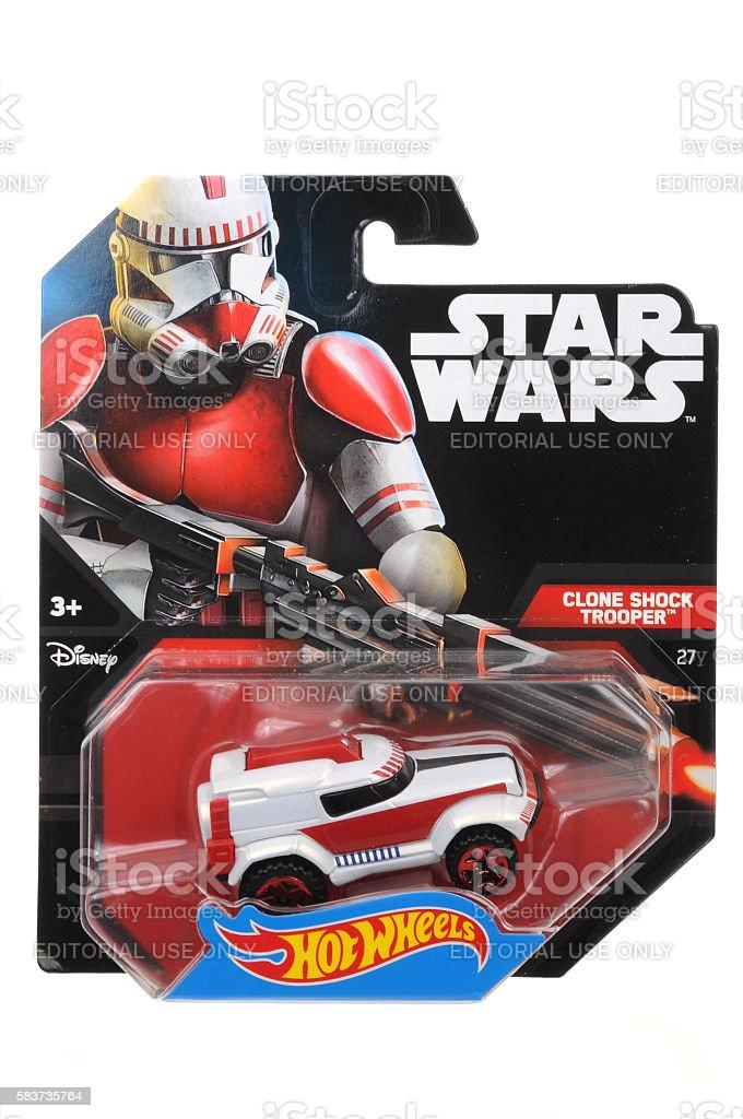 Clone Shock Trooper Hot Wheels Diecast Toy Car stock photo
