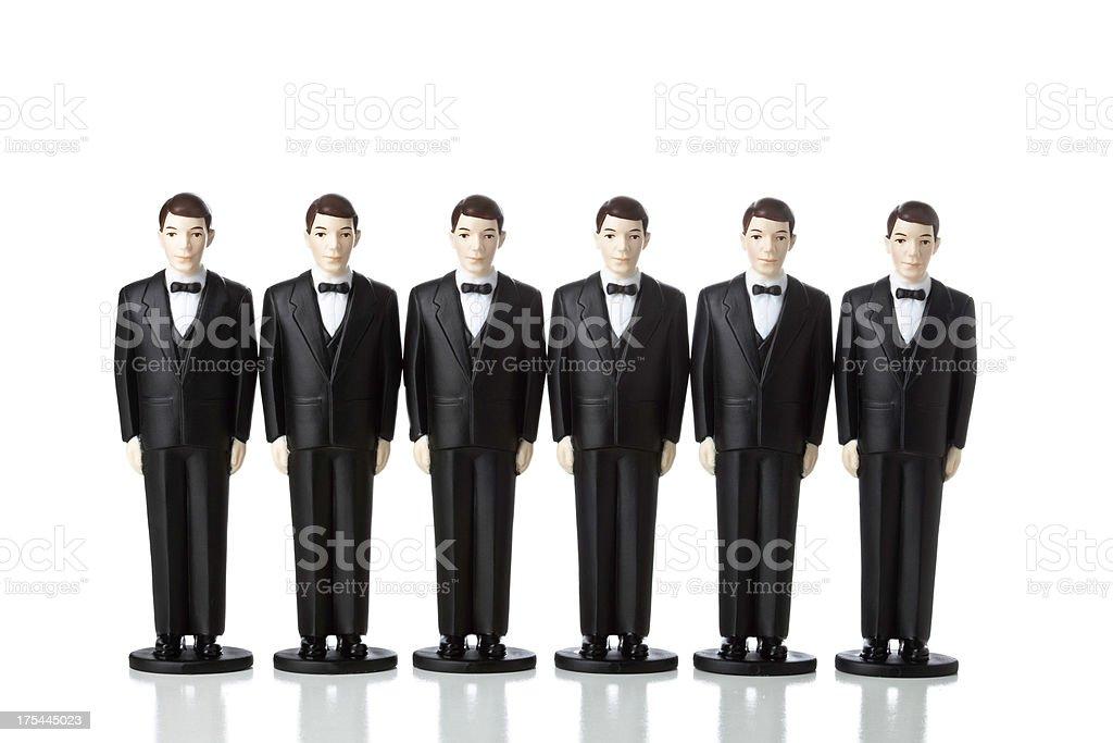 Clones Men in Suits stock photo