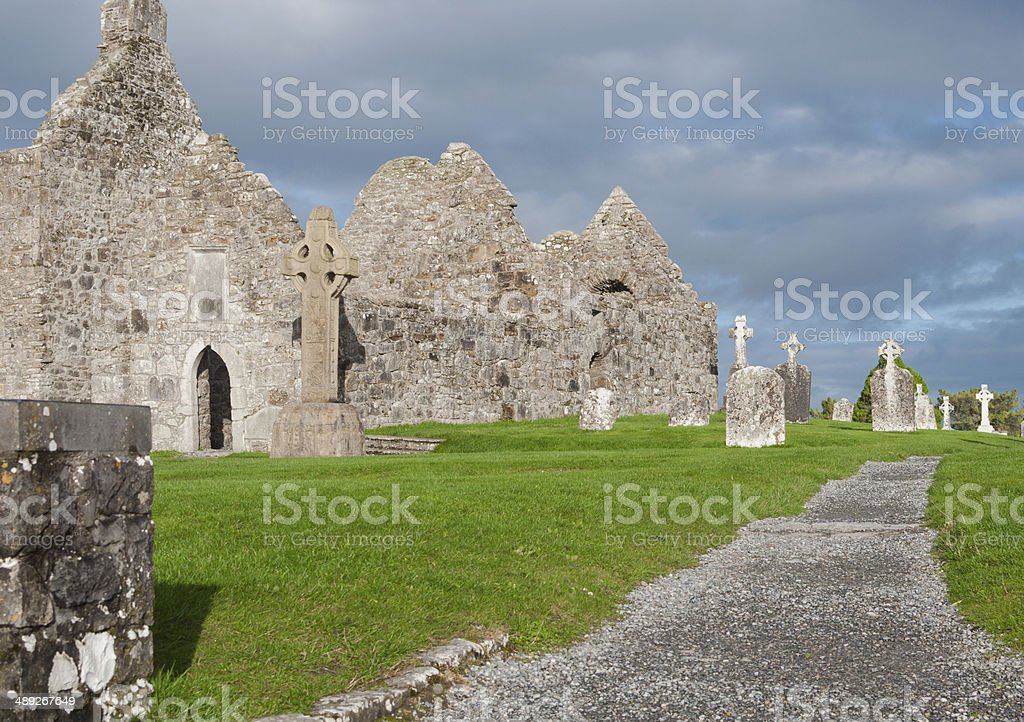 Clonmacnoise Archelogical Site stock photo
