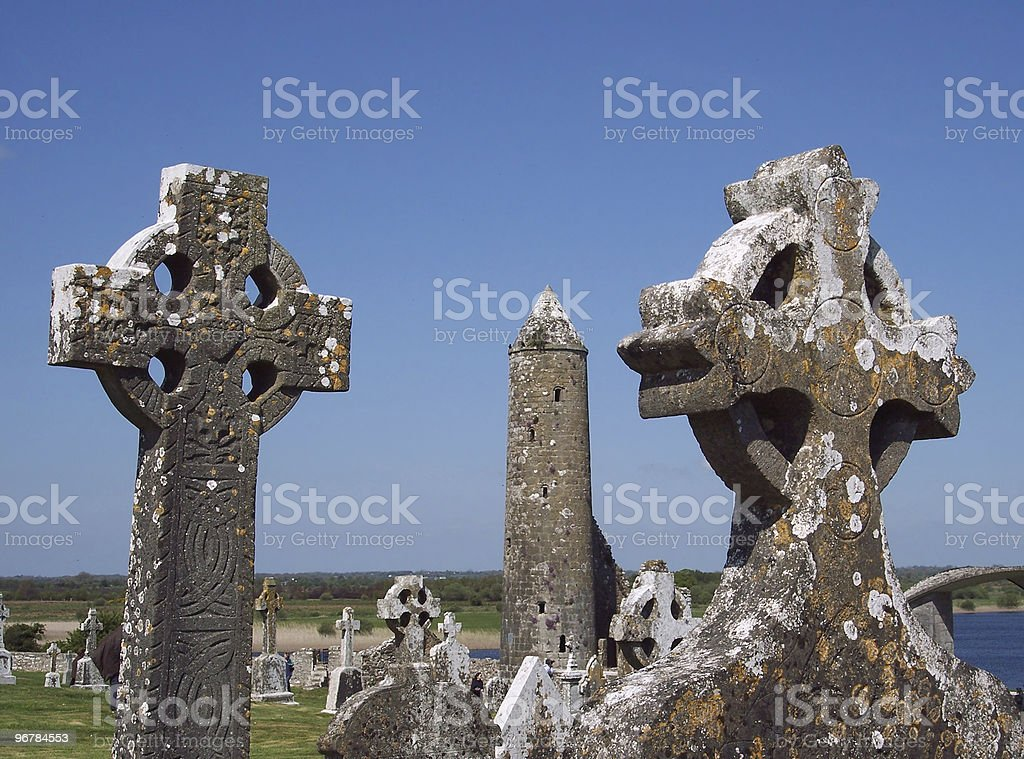 Clonmacnoise, Ireland royalty-free stock photo