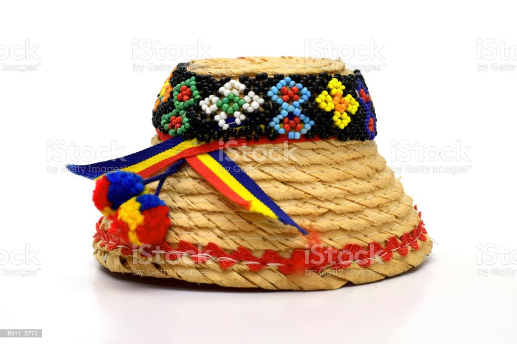 Clop Maramures traditional hat stock photo