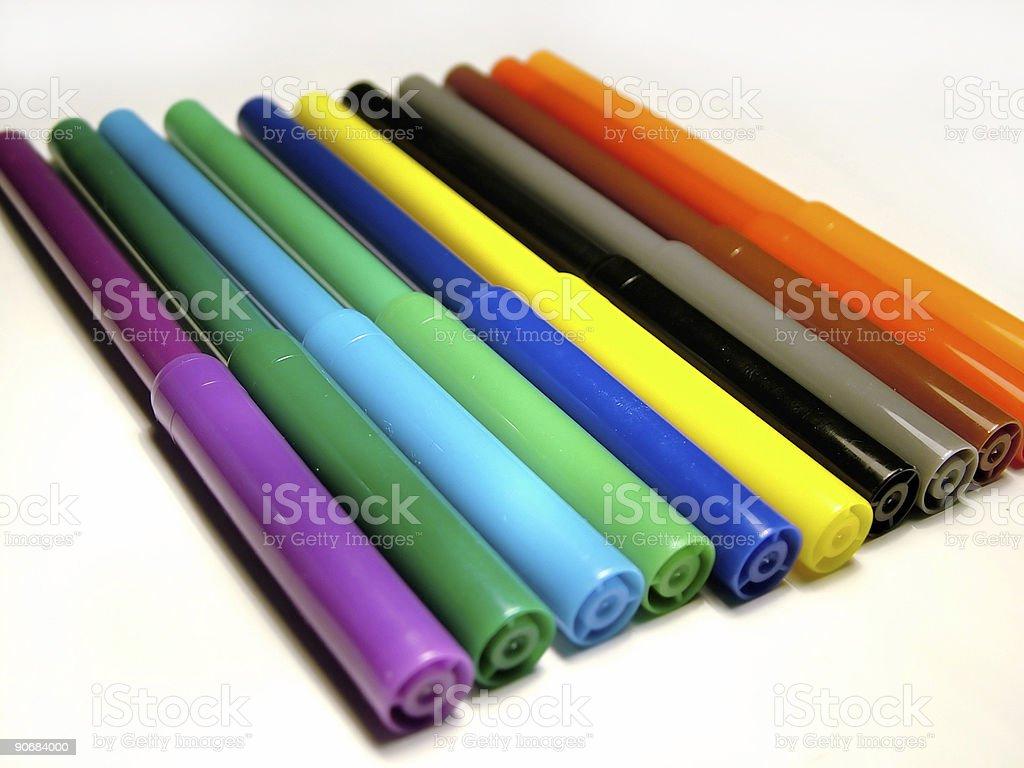Cloring pencil stock photo