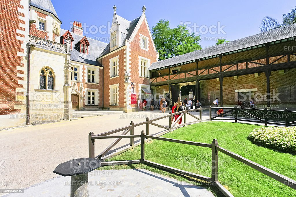 Clos Luce is a Leonardo da Vinci's museum in Amboise stock photo