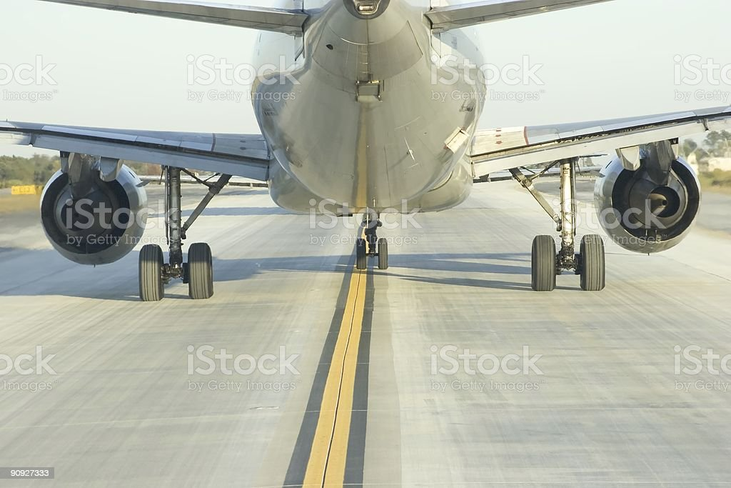 Close Behind Airliner royalty-free stock photo