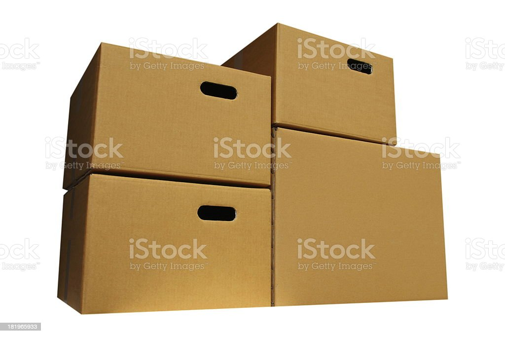 Close Cardboard Box royalty-free stock photo