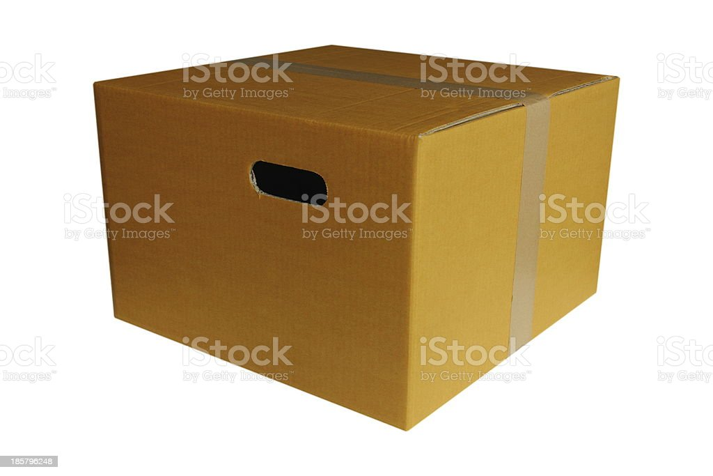 Close Cardboard Box royalty-free stock photo
