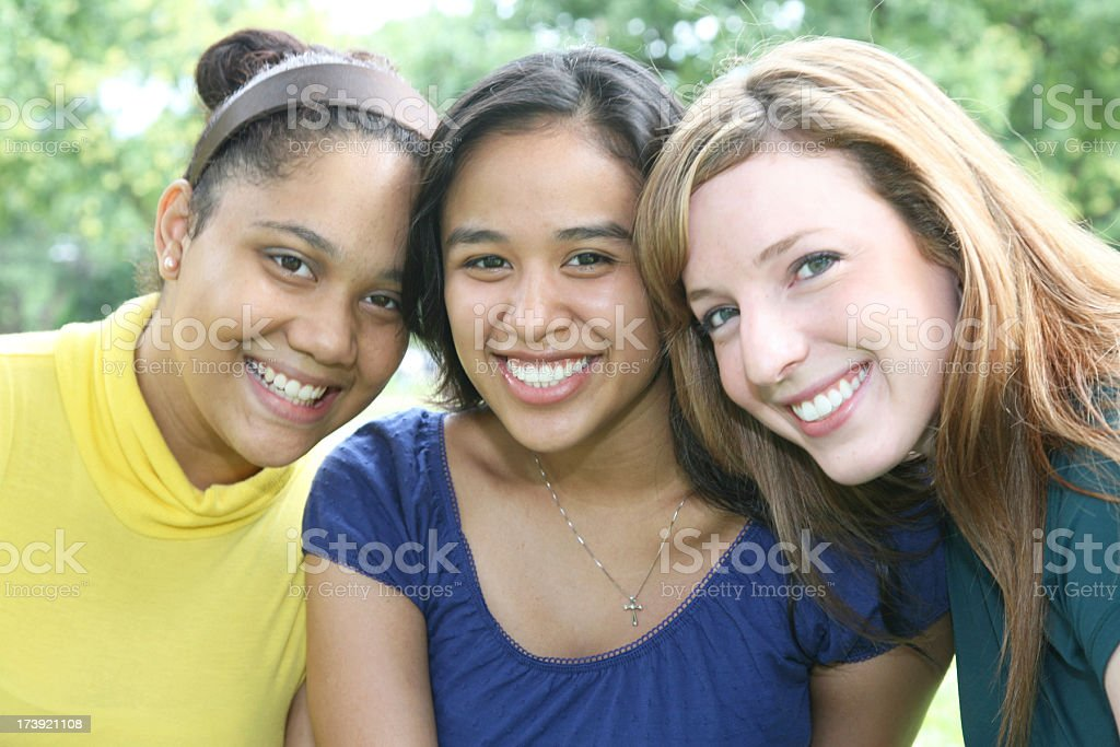 Close Group of College Friends royalty-free stock photo