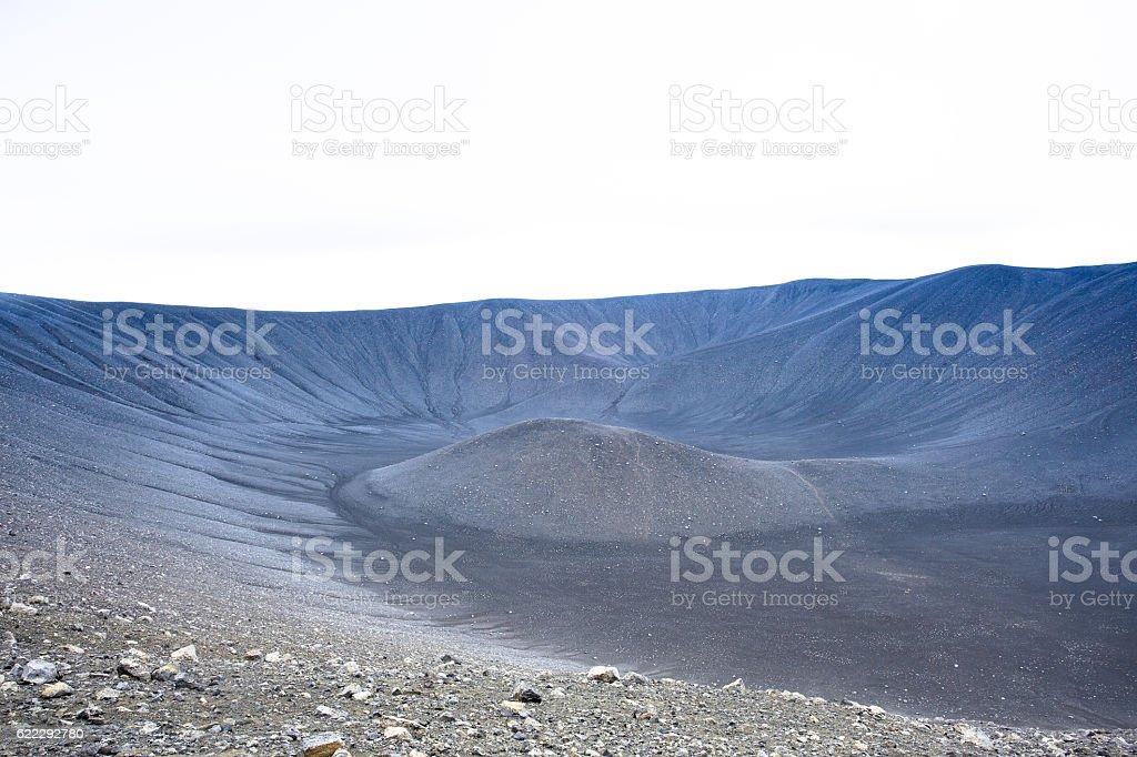 Close Look At A Tuff Ring Volcano stock photo