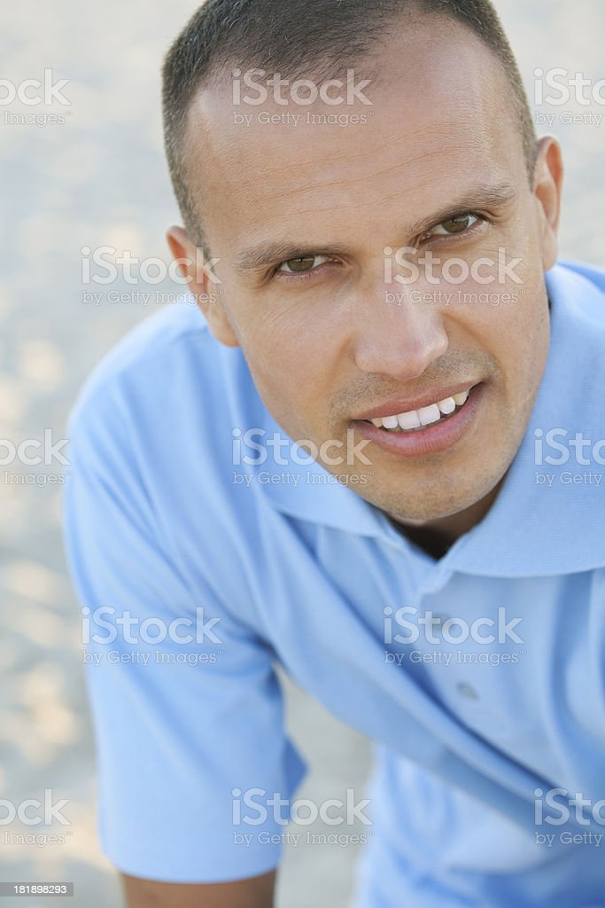 close of young cheerful man royalty-free stock photo