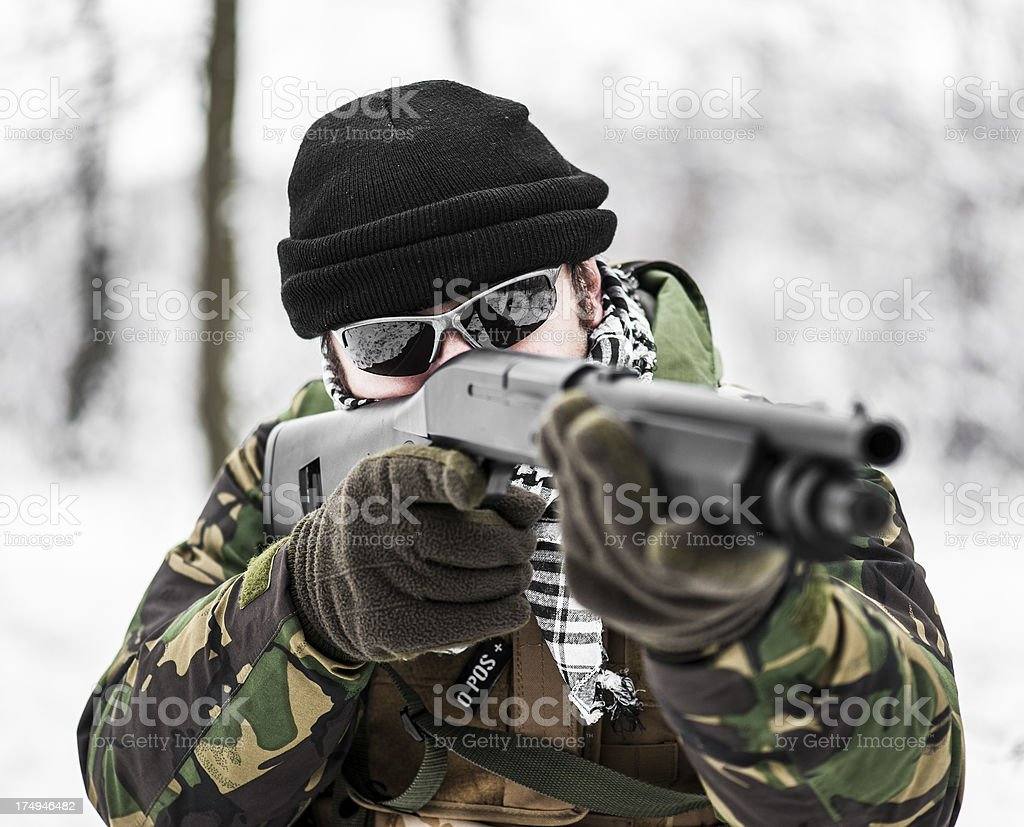 Close range combat royalty-free stock photo
