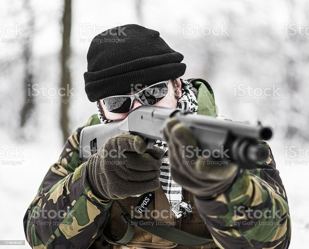Close range combat stock photo