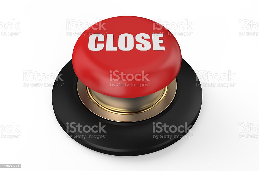 close red button stock photo
