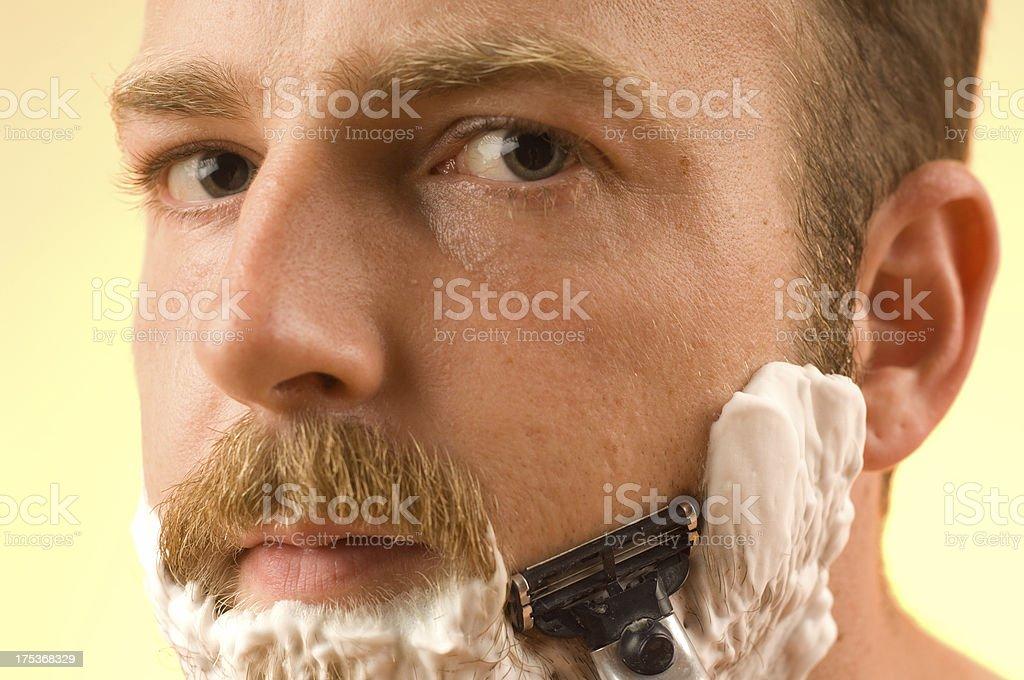 Close Shave stock photo